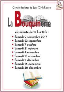 calendrier sept-dec 2017