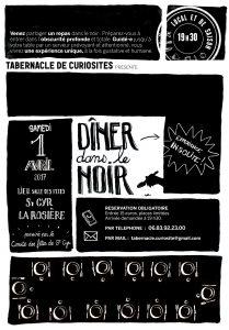 affiche diner dans le noir