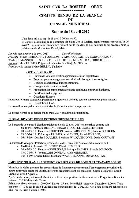 Compte rendu conseil municipal du 18 avril-1