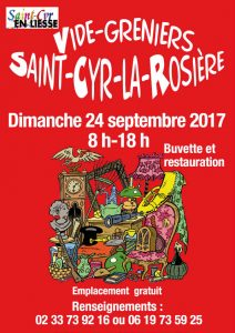 Vide-greniers à St Cyr le 24 sept