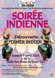 soirée indienne à Saint Cyr