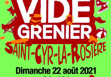 Vide-greniers à Saint-Cyr le 22 août